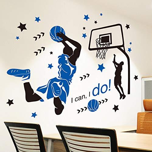 xmydeshoop Basketball Spieler Sport Wandaufkleber DIY Cartoon Wandtattoo Für Kinder Zimmer Jungen Schlafzimmer Gymnasium Dekoration
