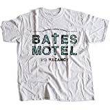 9314w Bates Motel Homme T-Shirt Psycho Norman Alfred Hitchcock The Birds Rear Window(Large,White)
