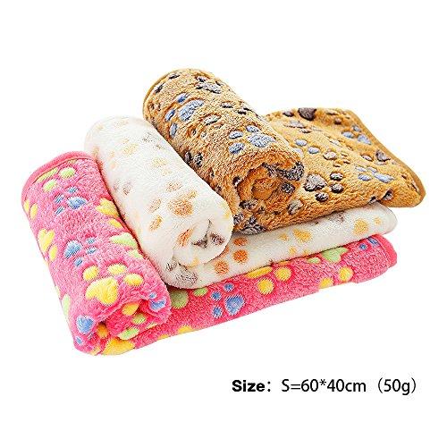 PET SPPTIES Pata pequeña impresión paño grueso y suave manta suave estera del animal doméstico 3 piezas PS016 (60cmx40cm)