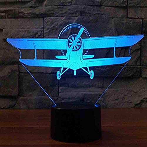 BJDKF 7 Color Change Front Of A Piper 3D Night Lamp Multi Color Usb Power Home Decoration Lamp Best Gift Toy -