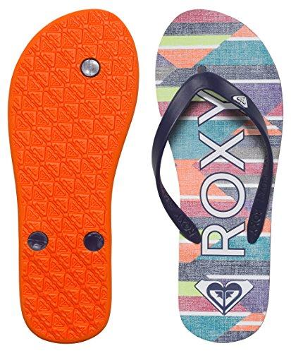 Roxy - Tahiti V J Sndl Spk, Sandali infradito Donna Multicolore (Mehrfarbig (Stripe Barely Pink))
