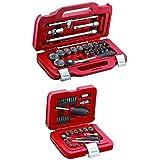 USAG U06010003 601 1/2 J22 Assortimento in Cassetta Modulare con Bussole Esagonali, 22 Pezzi + USAG U06010001 601 1/4 J34 Ass