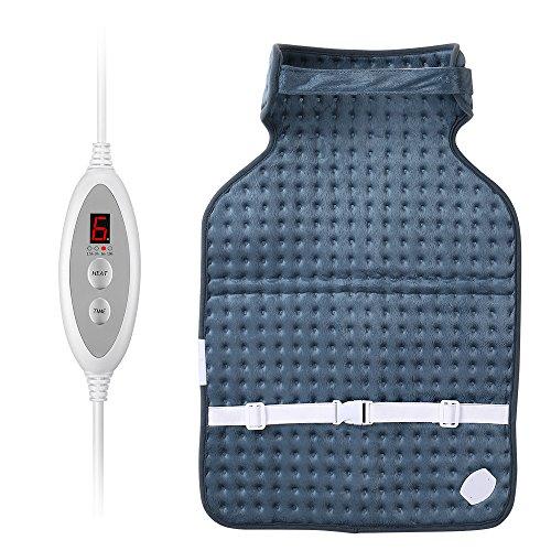 Wärmeunterbett, AVANTEK Heizdecke mit 6 Temperatureinstellungen, 4 Automatische Timerfunktionen, Überhitzung- und Überspannung-Schutz, Einstellbar mit Fernbedienung, Blau