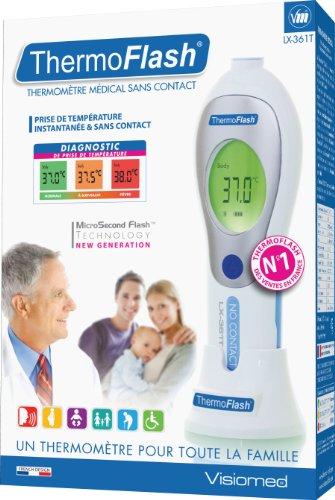 Candide G01045 ThermoFlash LX-361T – Kontaktloses Thermometer mit Infrarot Technologie und Sprachfunktion - 3