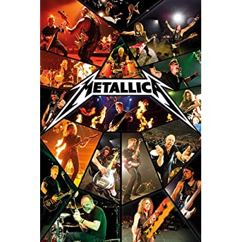 Metallica - Live 61 x 91 cm Affiche + 1 Gratis Metallica Logo Badge