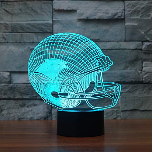 �ball-Hut Carolina Panthers 3D beleuchtet bunte Note geführte Lichter ()