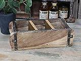 Chic Antique Ziegelform L30cm alte Backsteinform mit 3 Fächern Holz Box Kiste Halter Schale