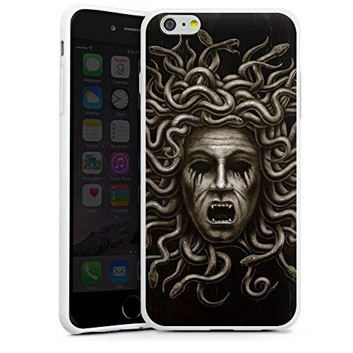 Apple iPhone X Silikon Hülle Case Schutzhülle Medusa Frau Schlangen Silikon Case weiß
