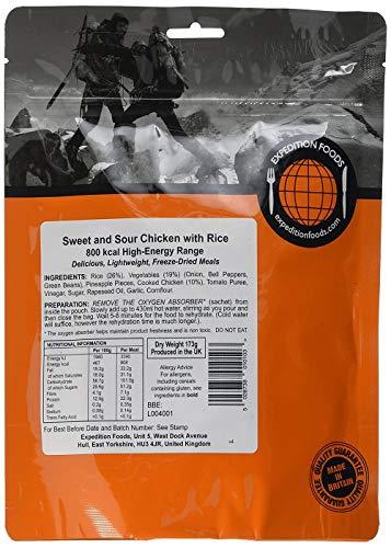 Expedition Foods Hähnchen süss-sauer mit Reis (High Energy Serving)