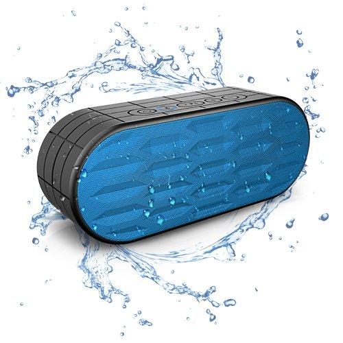 ITgut 10W 4.0 Bluetooth Lautsprecher Outdoor Musikbox 2200mAh Akku IPX5 Mit Drahtloser Bluetooth Speaker Stereo Boxen Waterproof Dual-Treiber Kabellose Lautsprecher Bass und eingebautem Mikrofon Musik Box für Pc mobiler iPhone iPad Samsung Und Android Geräte Wasserdicht (blau)