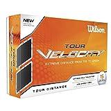 Wilson Staff, Weiche 2-Piece Golfbälle für weite Distanzen, 15er-Pack, Weiche Ionomerhülle, Velocity, Weiß