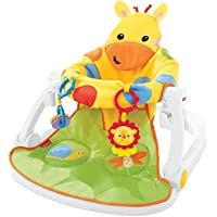 Fisher-Price DJD81 Giraffe Sit-Me-Up Floor Seat, Portable Baby Chair or Seat with Removable Tray, Rattle and Teething Toy - ukpricecomparsion.eu