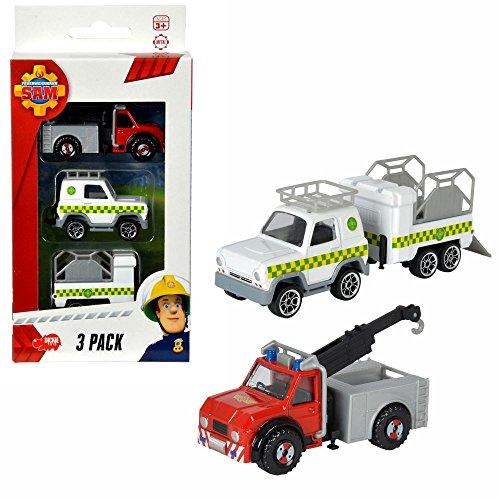 Feuerwehrmann Sam - Mini Die Cast Serie - Set Fahrzeuge Phönix, Tierarzt & - Fahrzeuge Die Cast