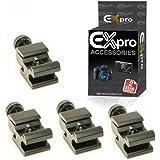 Ex-Pro Hot Shoe Adapter réglable de 1/4'' Filet de vis [4 Pack]