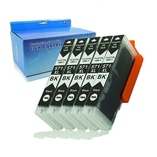 Teng® Tintenpatrone Canon PGI-570XL CLI-571XL kompatibel mit TS5050 TS6050 MG5750 TS5055 MG6850 TS6051 TS6052 MG5753 MG6851 MG5752 TS5051 TS5053-5 Photo Schwarz