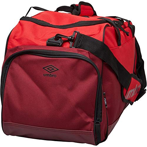 Umbro Pro Training tamaño Mediano Bolsa de Equipaje, Color Red/Claret/Black, tamaño Medium