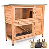COZY PET Rabbit Hutch/Hide/Run Guinea Pig House Ferret Cage Rabbit Hutches in Natural RH04N (We do not ship to N Ireland, Scott Highlands & Islands, Channel Islands, IOM or IOW)