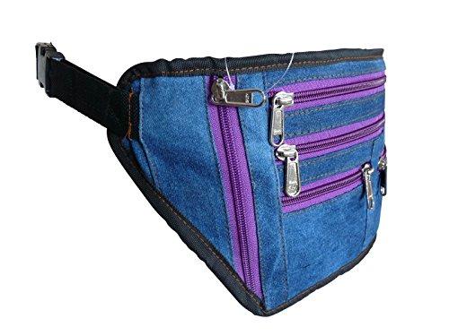 Roamlite Cinturón de dinero morado Purple Zips large