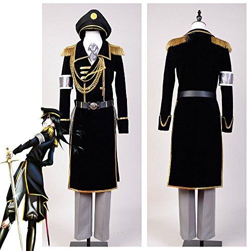 Sunkee Anime K Return Of Kings Yatogami Kuroh Uniform Cosplay Kostüm ,Maßgeschneidert ( Bitte geben Sie uns Ihr Gewicht, Höhe, Breite, Brust, Taille und Hüfte) (XXL: 175-185cm, Yatogami Kuroh )