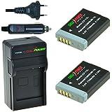 ChiliPower Canon NB-13L Kit: 2x Batterie (1150mAh) + Chargeur pour Canon PowerShot G7 X