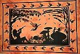 Traditional Jaipur Affiche féerique, Tenture Murale Hippie, Affiche psychédélique en Coton, Jeté de Pique-Nique bohème, Décor de dortoir Gypsy Boho 30 x 40 Pouces