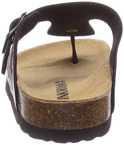 Dr. Brinkmann 700816, Chaussures de Claquettes femme Noir - Schwarz (Schwarz/Bunt)