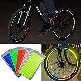 ALINT 4 STÜCKE Mode Reflektierende Aufkleber Motorrad Fahrrad Reflektor Sicherheit Warnung Rand Aufkleber Band
