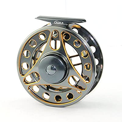 Dual Color Aluminum Alloy Machine Cut Fly Fishing Reels WF7/8 by TON'S