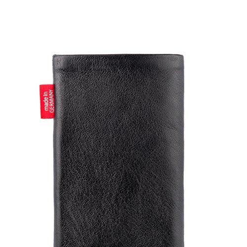 fitBAG Beat Rot Handytasche Tasche aus Echtleder Nappa mit Microfaserinnenfutter für Apple iPhone 6 / 6S / 7 mit Apple Leather Case Beat Schwarz