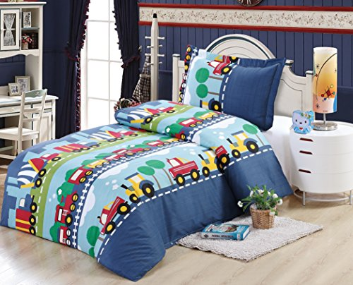 Boys train design single bedding...