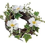 Formano Frühjahrskranz Dekokranz Tischdeko Kosmea Creme 30 cm | Hängedeko als Türkranz