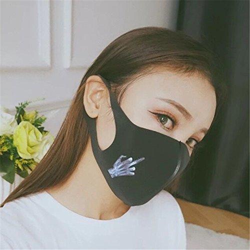 Preisvergleich Produktbild Staubmaske,  Damen Cool Fashion Frauen Earloop Anti-Staub-Baumwolle PM2.5 Guaze Gesichtsmaske Staubdicht Antibakterielle Maske Gesicht Staub Masken Cold Mouth Mask