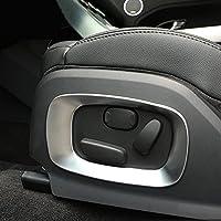 ABS cromado mate asiento de coche cubierta lateral marco borde accesorios 2pcs