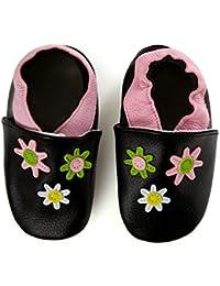 smileBaby Premium Leder Lauflernschuhe für Jungen und Mädchen Krabbelschuhe Babyschuhe mit verschiedenen Motiven