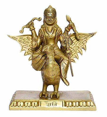 Elegant Brass Lord Shani Dev Statue