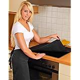 Firemat TXX3626 Black Edition - Paño protector multiusos: cocinas de inducción, chimeneas, muebles (60 x 70 cm, resistencia hasta 300 ºC)