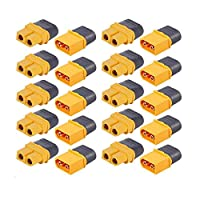 10 pairs of XT60H (XT60 upgrade) male and female bullet connector power plugs