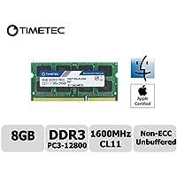 Timetec® Apple memoria ram (78ap16nusl2r8–8G) 8GB, 1600MHz