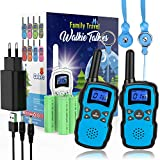 Wishouse Walkie Talkie Kinder, 8 Kanäle Funkgeräte für Erwachsene mit Taschenlampe,Outdoor Abenteuer Camping