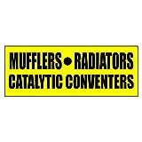 Silenciadores radiadores catalizadores adhesivo Retail Store Sign–19,5x 48pulgadas