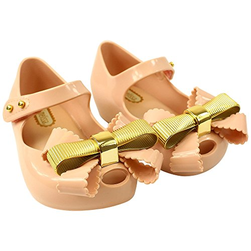 Melissa Footwear Chrome Bow Plastic Jelly Pumps UK 6 BABY PINK (Jelly Melissa Shoes)