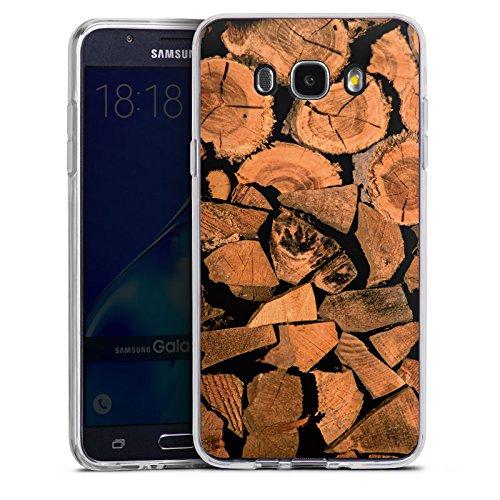 samsung-galaxy-j7-2016-hlle-silikon-case-schutz-cover-holz-look-baum-holzscheit