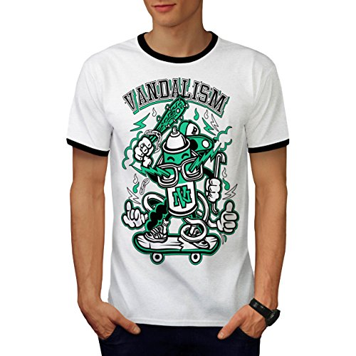 Straße Vandalismus Gangster Jugend Leben Herren M Ringer T-shirt | Wellcoda