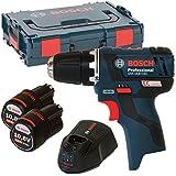 Bosch Akku und Bohrschrauber, GSR 10,8 V-EC 2x2,5 AH L-Boxx UNI
