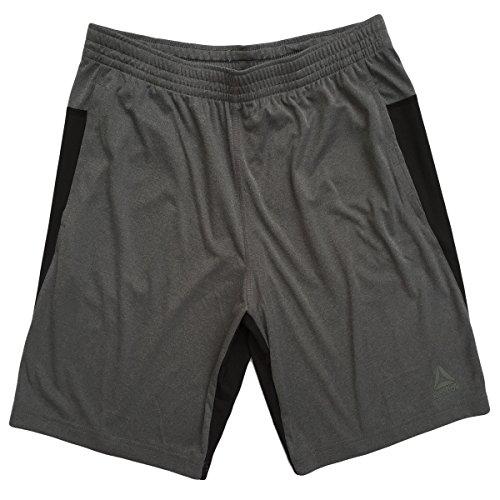 Reebok Men's Speedwick Speed Shorts (Two-Tone Gray/Black, X-Large)