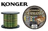 Konger Team Carp Rainbow Bobine de Fil de pêche monofile 600 m, Multicolore, 0,35mm / 13,50kg