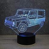 Lampe illusion Méhari Citroën - Fabriquée en France - Lampe de table - Lampe veilleuse - Lampe d'ambiance