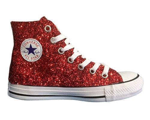 Converse All Star Glitter Rojo Rojo