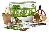 Urban Sprout Kit de Bonsai - Cultive Sus Propios Bonsáis con Semillas para Cultivo de Interior - Incluye 5 variedades - Kit Base para germinación con Herramientas de Jardin - Instrucciones en Español