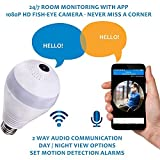 Best Amcrest Ios Cameras - Wifi Bulb Security Camera With Night Vision Fisheye Review